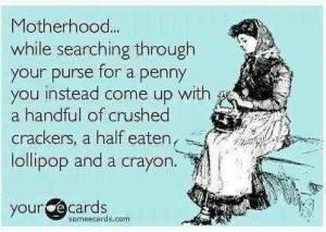 funny mom's purse